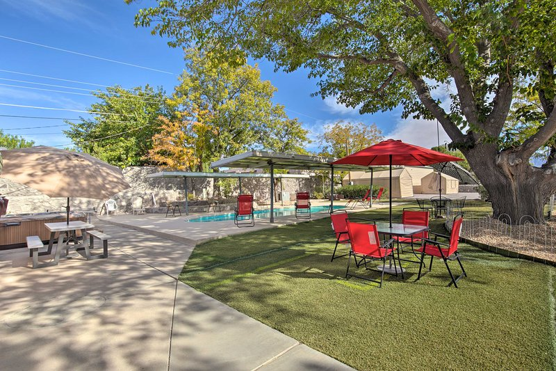 You'll love spending time in this expansive outdoor entertainment area!