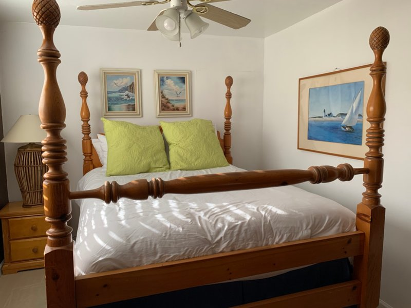 The Master Bedroom is furnished with a fluffy queen bed to make sure you're well rested!