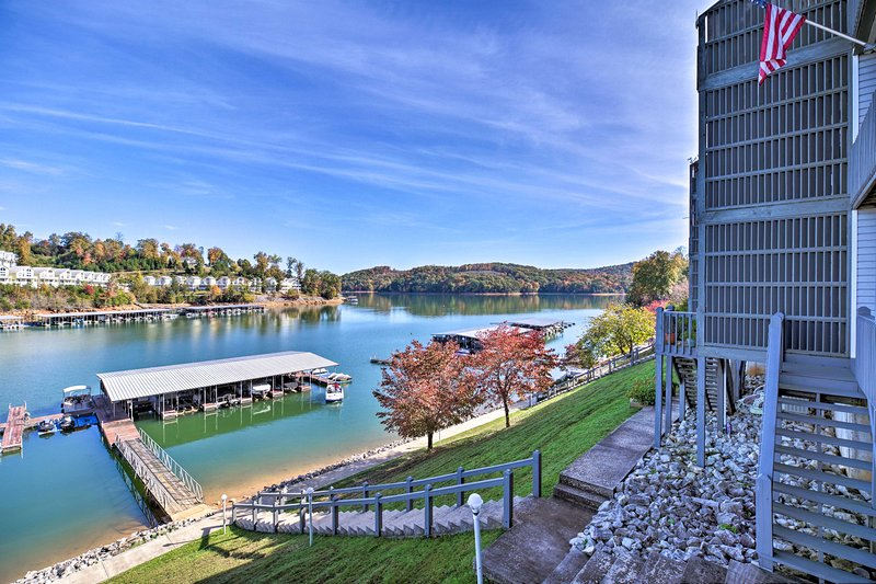 The condo is located in the Deerfield Resort complex, right on Norris Lake!