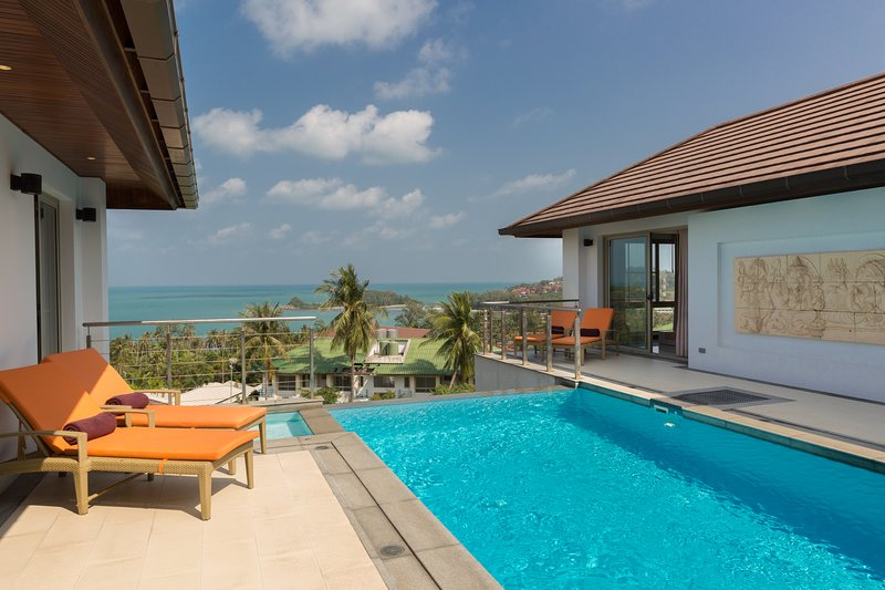 Horizon Villa-3BR Private Pool Sea View, alquiler vacacional en Plai Laem