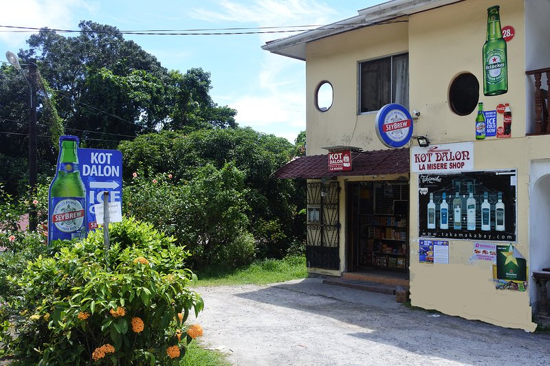 The nearby shop selling basic commodities.