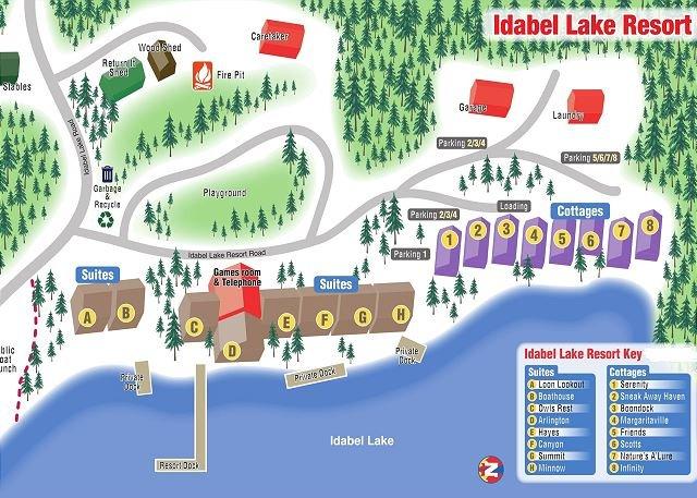 Karta över Idabel