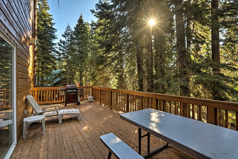 Book your Lake Tahoe escape to this rustic 4-bedroom, 3.5-bath vacation rental!