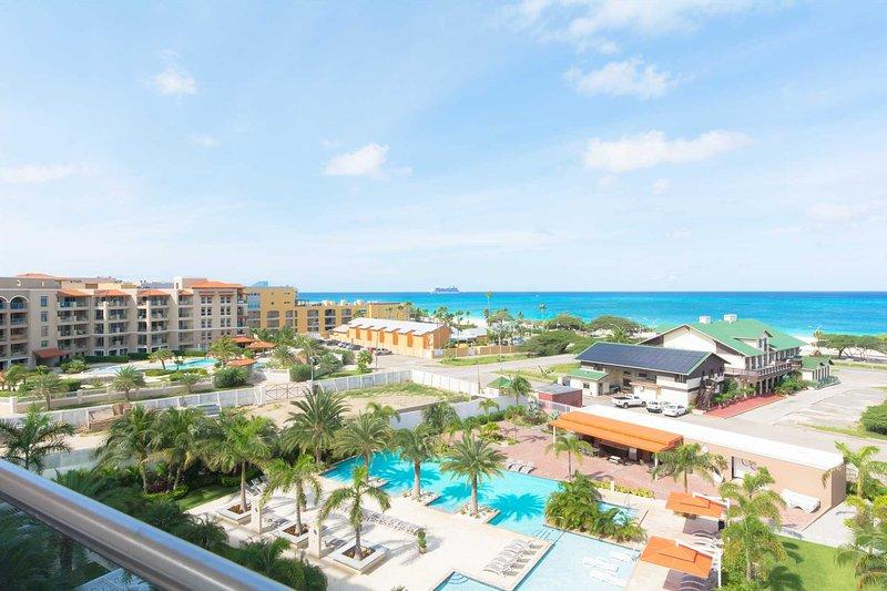 BEACH VIEW - EAGLE BEACH - LEVENT RESORT - Coastal View 2BR condo - LV505, alquiler de vacaciones en Aruba