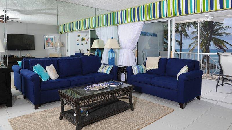 Salon avec vue sur l'océan