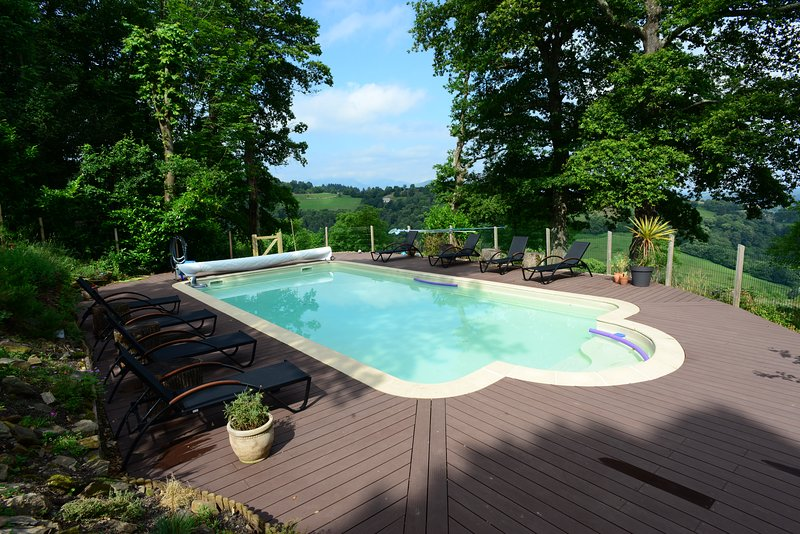 Magical mountain air, idyllic views, heated pool, perfect for family gatherings, holiday rental in Soues