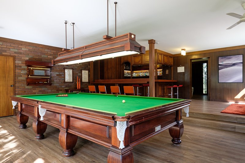 Our games room with tournament sized billiards table