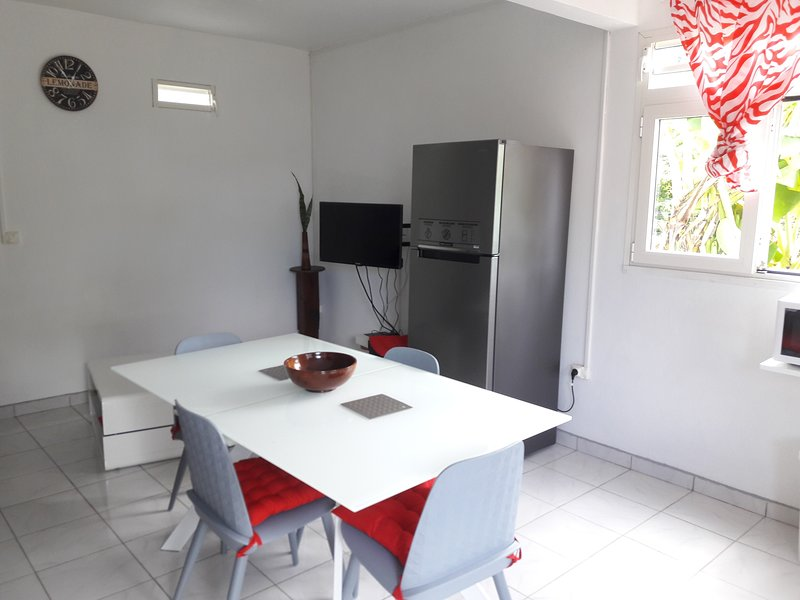 Kitchen area and sitting area