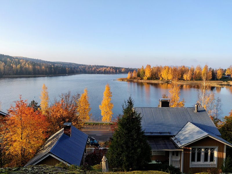 Lakeview house in Saynatsalo close to Alvar Aalto attractions, holiday rental in Korpilahti