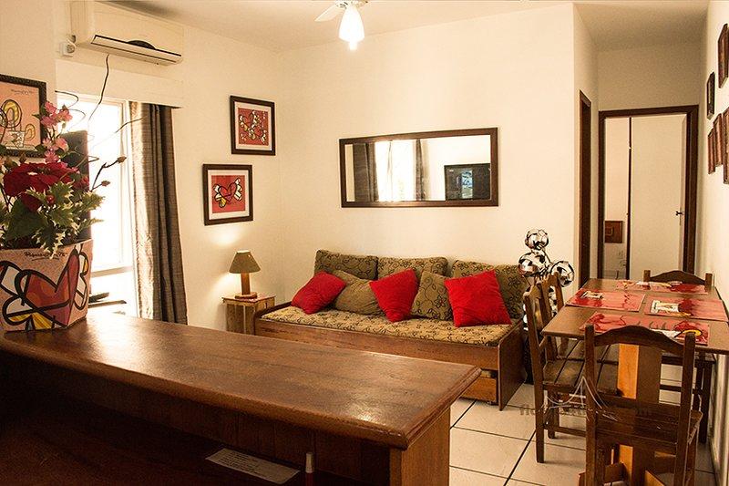 Apartamento na Cachoeira do Bom Jesus 150m da praia, alquiler de vacaciones en Cachoeira do Bom Jesus