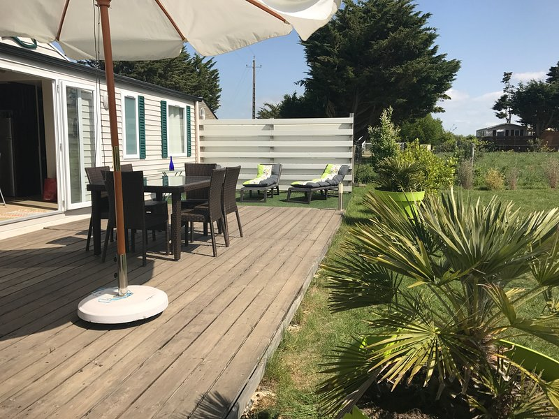 Mobile home Bretagne sud plage 5 min à pied, vacation rental in Penestin