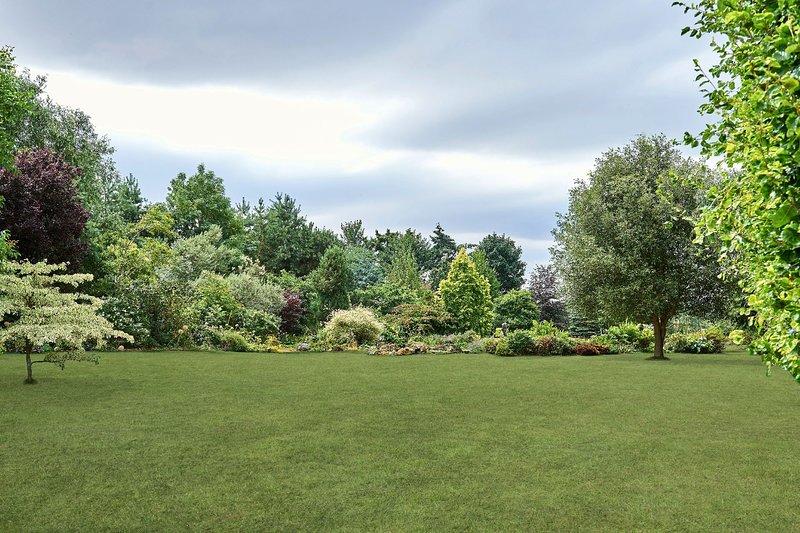 The main lawn at Kingham Lodge