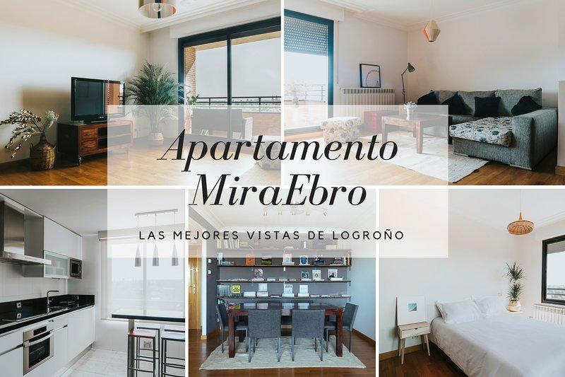 Apartamento Miraebro - las mejores vistas de Logroño, alquiler de vacaciones en Logroño