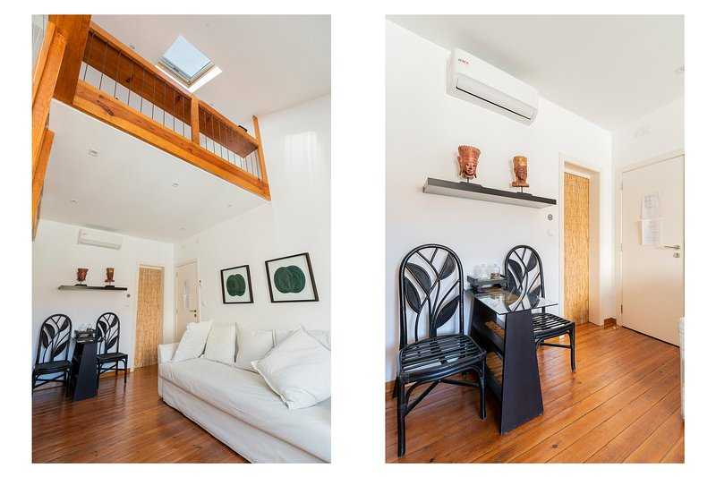Relaxing Vibe Deco Mezzanine flat for 4 Has Internet Access and Air ...