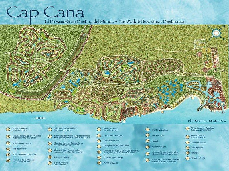 Mappa di Cap Cana