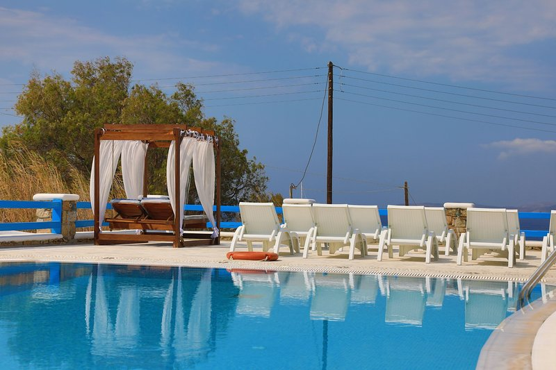 Maganos EikosiDio: Traditional one bedroom apt, for 4 persons, enjoys a shared, vacation rental in Paraga