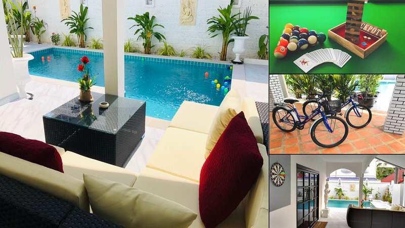 Superb villa near beach & Walking Street with private swimming pool, holiday rental in Pattaya