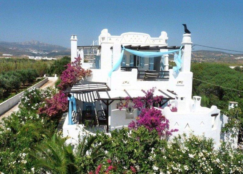villa Cycladique  en bord de mer, aluguéis de temporada em Naoussa