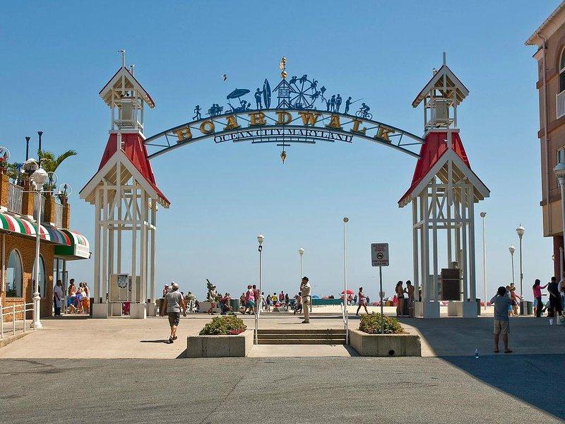 Corta caminata desde el paseo marítimo de Ocean City