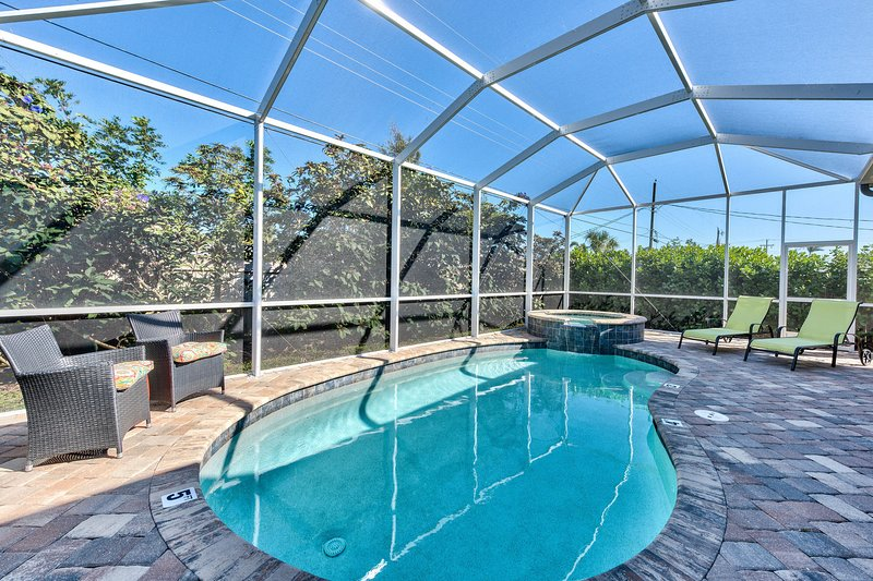 Private Pool and Hot Tub with Ample Seating; Short Walk to Vanderbilt Beach; Private!