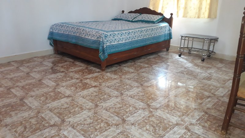 Yellow villa is at infront of sea facing and only 40 meters far  from the beach, vacation rental in Morjim