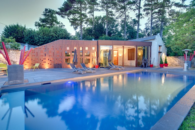 Chateau MOH Suites Zona relax, piscine e sauna. Piscina esterna riscaldata 12 x 5 x 1,60