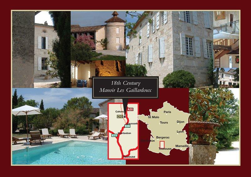 Manoir a 5 stelle del XVIII secolo, caldo d'inverno e fresco d'estate. In GASTRONOMIC e Quercy storico.