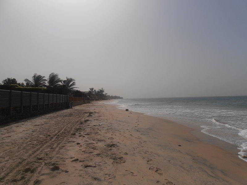 the huge sandy beach