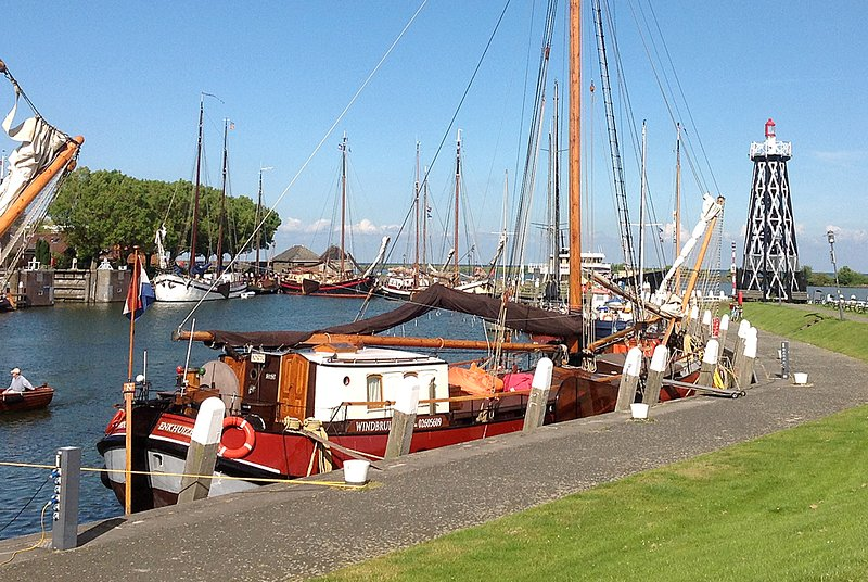 Enkhuizen in summer. Experience life in a historical harbor.