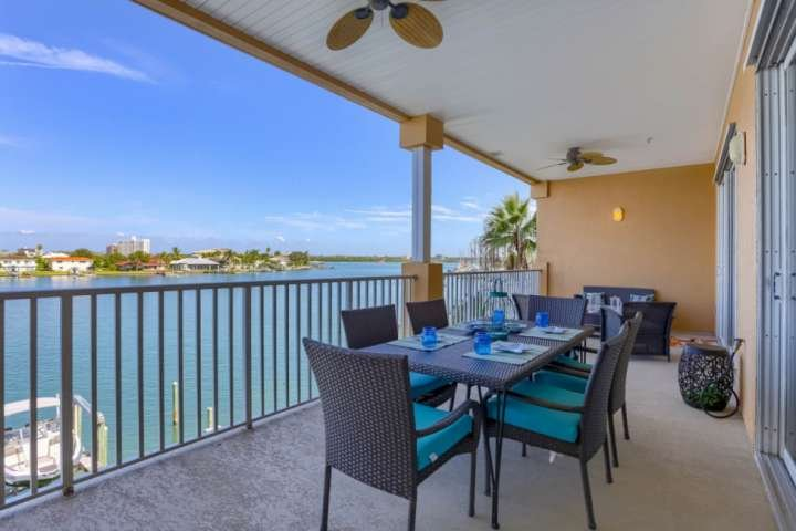 Enjoy Gorgeous Views as You Dine or Relax on the Private, Covered Balcony