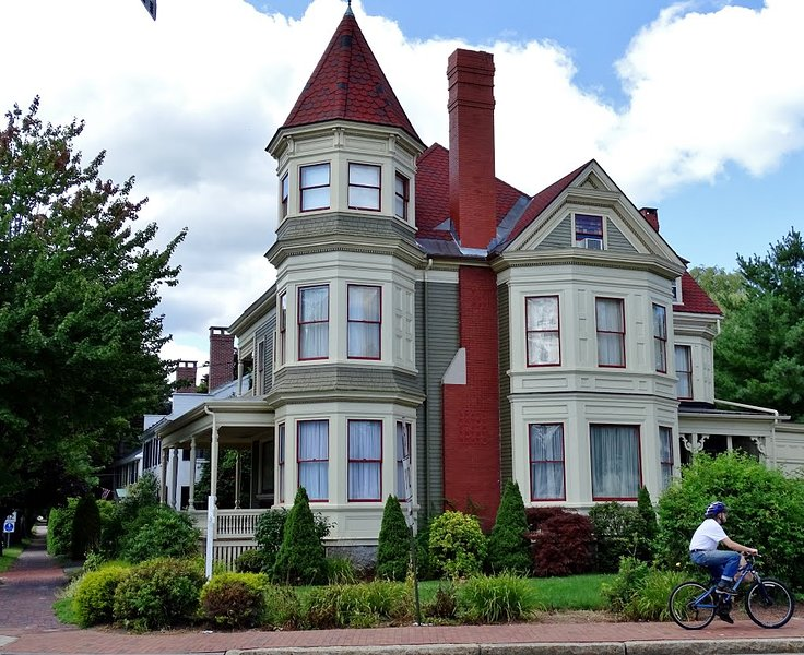 The Gregory Mansion a huge Victorian Home & architectural landmark in So Maine, holiday rental in Saco