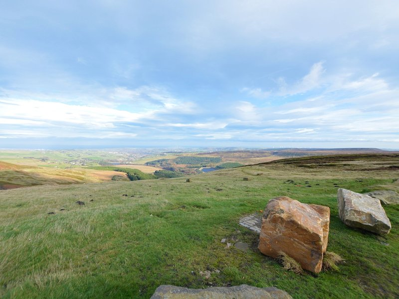 The views up Holme Moss are worth the climb