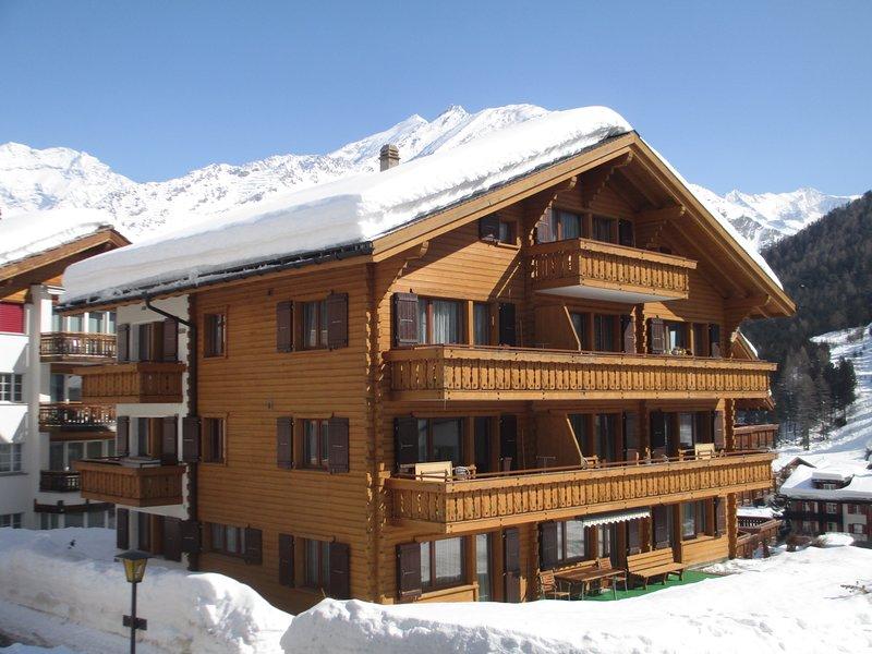 Ski-In - Ski out!  Das ist Sie!  Die Top Lage für Ihren Aufenthalt in Saas-Fee., aluguéis de temporada em Saas-Fee