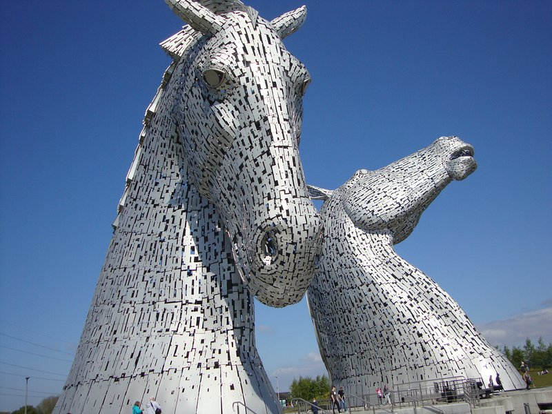 The Kelpies and Falkirk Wheel 45 minutes drive from house
