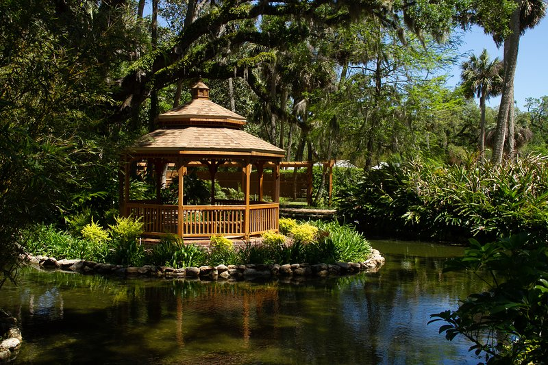 Visit our many state and local parks. Washington Oaks Gardens State Park shown.