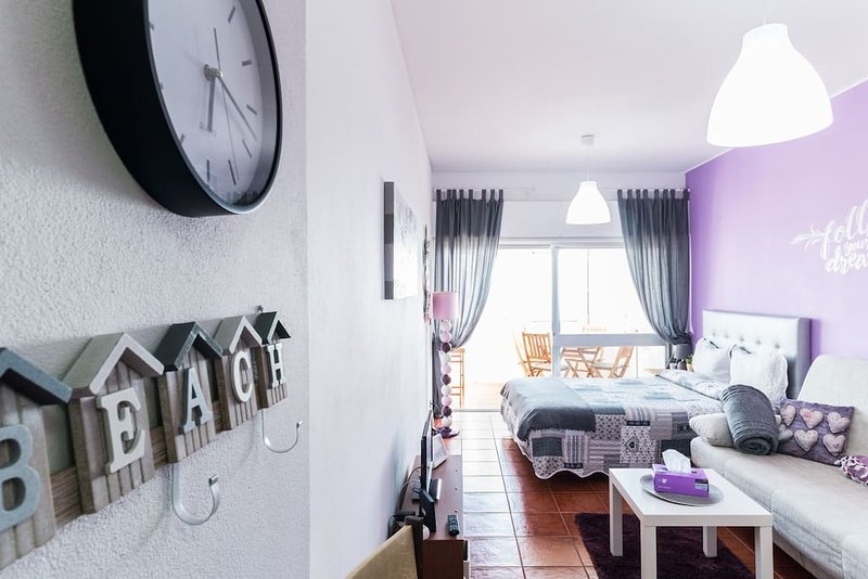 Magic Ocean View Studio in Nazare with parking area, vacation rental in Nazare