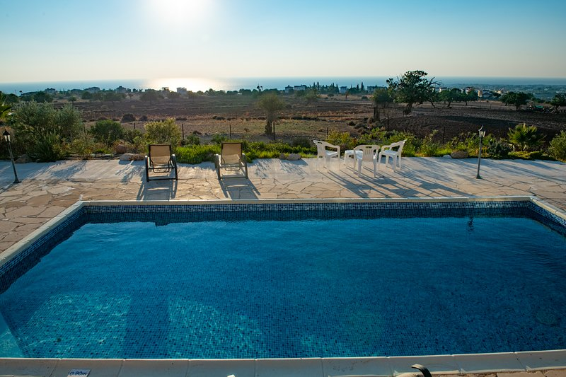 Country Side with Amazing Sea view.Villa Hermes, vacation rental in Paphos