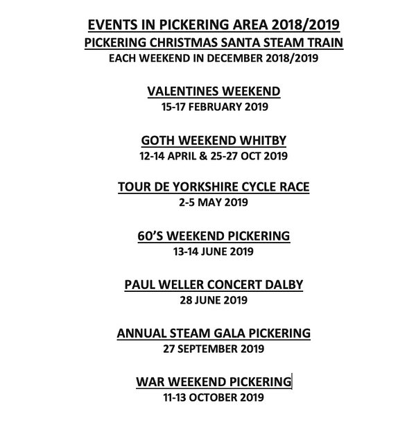 Events for Pickering area 2019