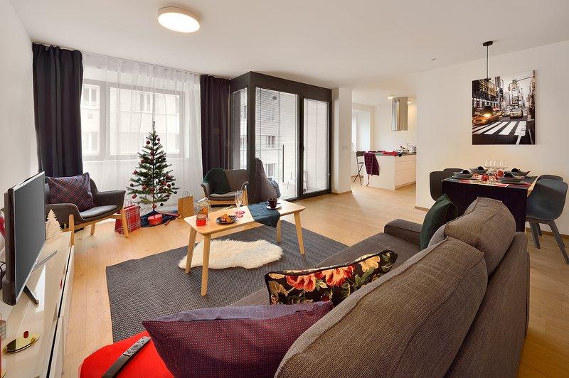 2 Bedrooms, Terrace, Key-less Access Apartment, vacation rental in Bratislava Region