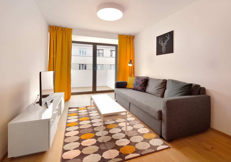 Smart 1BDR Apartment w/ Terrace, Key-Less Access, holiday rental in Bratislava Region