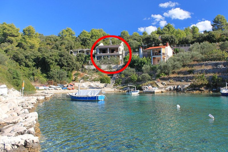 Two bedroom apartment Cove Stratinčica, Korčula (A-9264-a), vacation rental in Blato