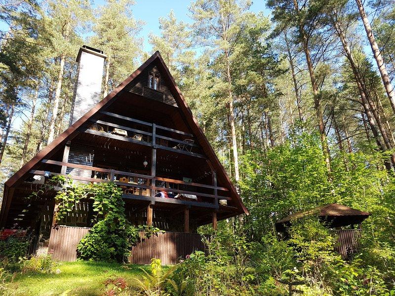 Ferienhaus Marianna am See Kalwa mit Sauna und Ruderboot, location de vacances à Stawiguda