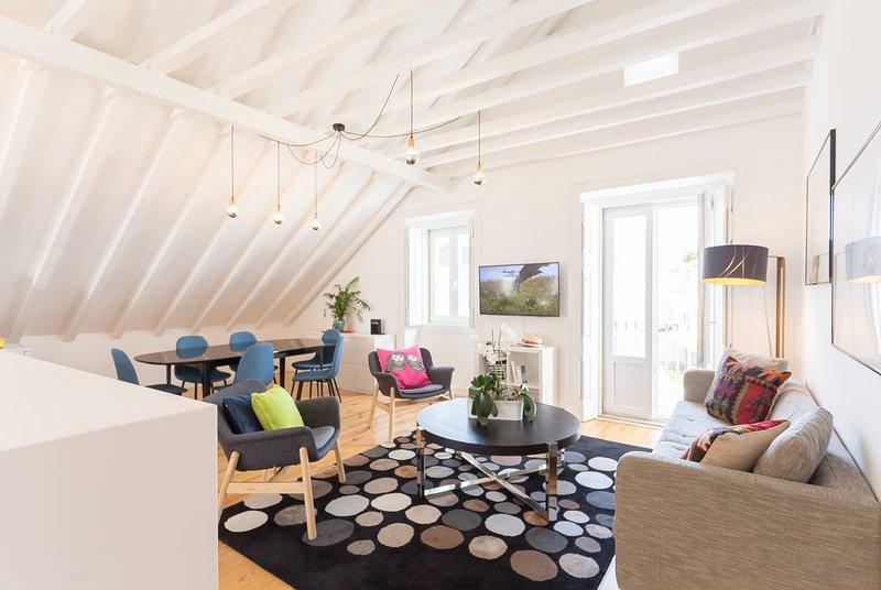 Appartement 125m2 avec terrasse sur les toits de cascais, 3 chambres – semesterbostad i Estoril