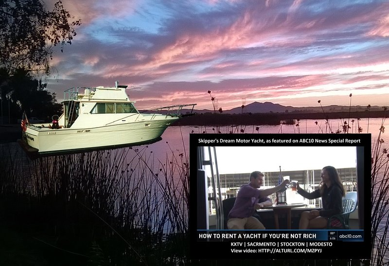 Skipper's Dream Motor Yacht - Sunset on Fourteen Mile Slough, ABC-10 News feature report.