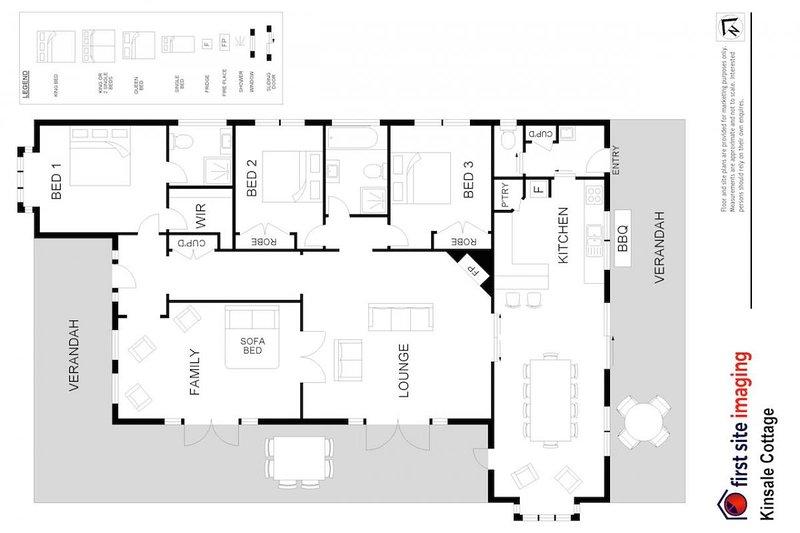 Hunter Valley Accommodation - Kinsale Cottage - Pokolbin - Floor Plan