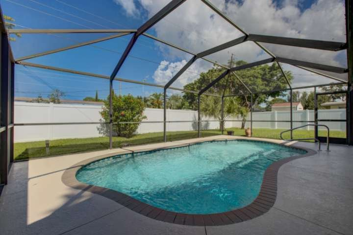 Pool can be heated. The extra is just to cover electricity.  Fenced yard makes is safe for kids and your pet.
