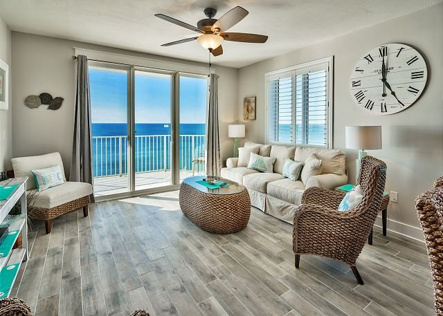 Majestic Sun 1112B - Gulf Front View Living Room