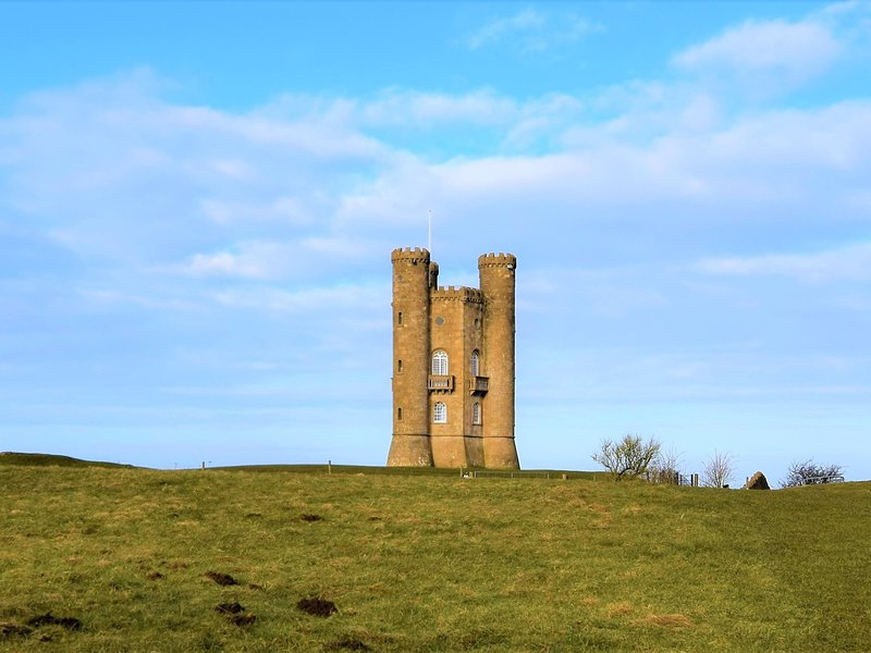 Visit Broadway Tower which you can see in the hills from the property