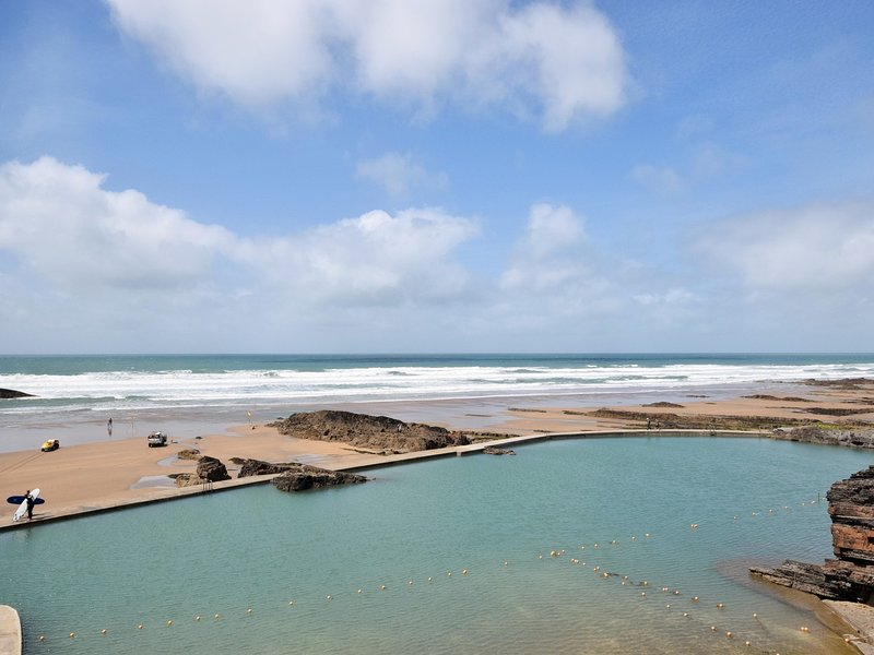 The tidal sea pool at Summerleaze beach in Bude