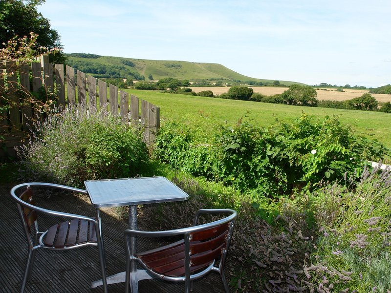 Decking area looking across the countryside